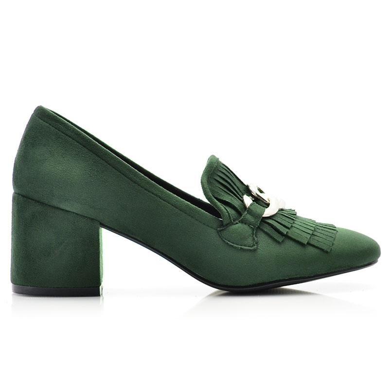 Πράσινες Γυναικείες Γόβες Suede | FODI.GR
