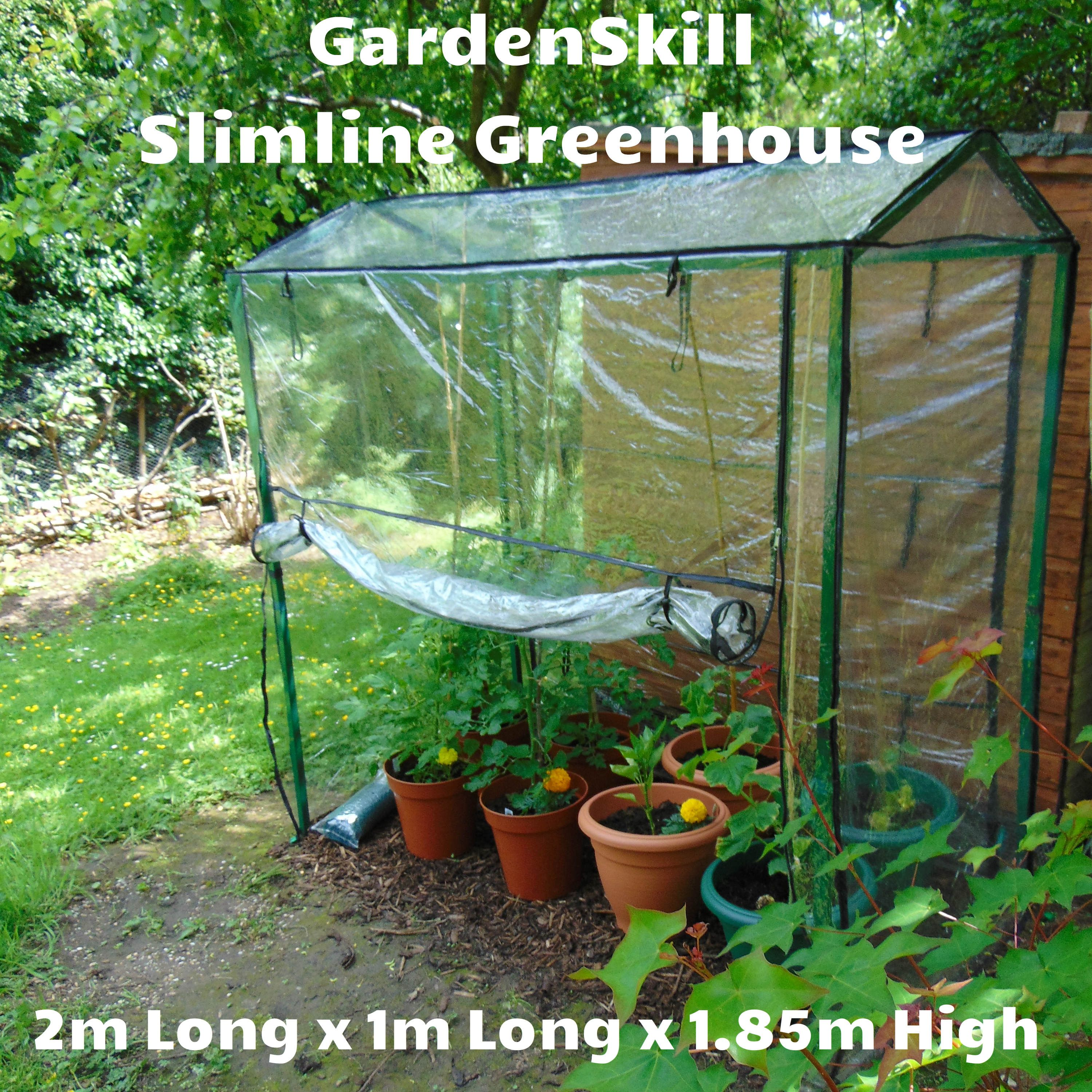 slimline greenhouse tomato shelter manufactured from high