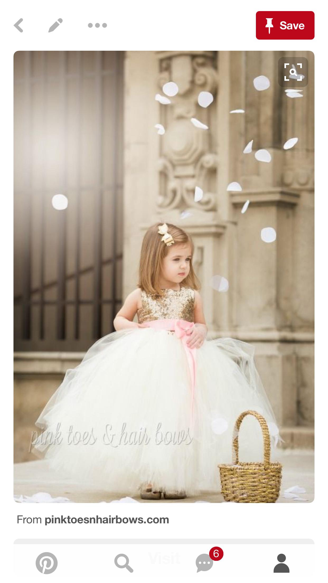Pink and gold dress for kids  Pin by Jacqueline Lovik on Kids  Pinterest  Girls dresses Flower