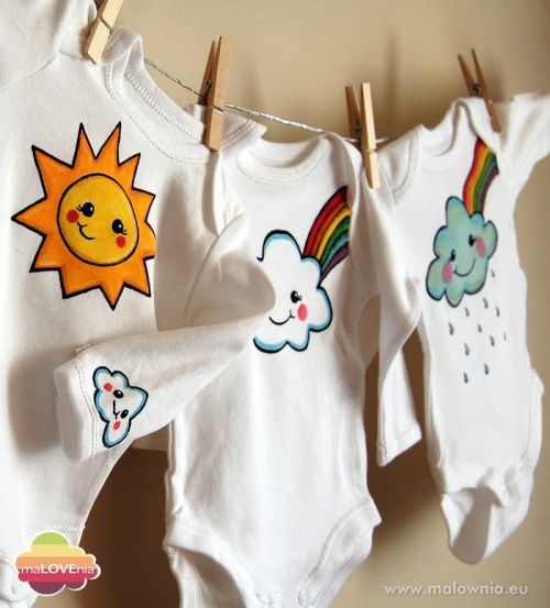Hand painted bodysuits for little explorer