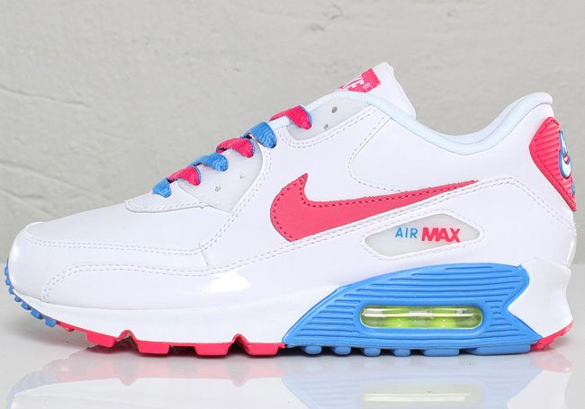 womens nike air max 90 pink and white