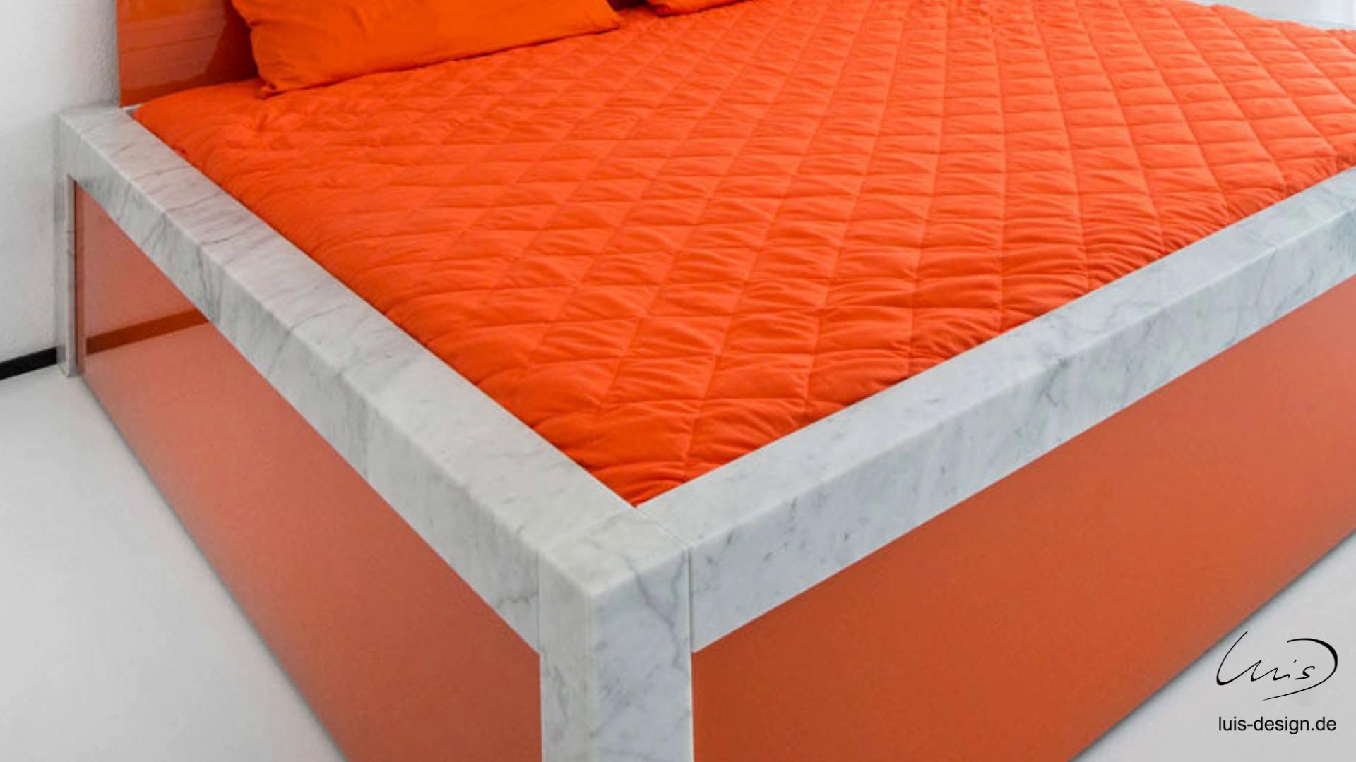 Designer Bett (alle Materialien nach Kundenwunsch änderbar) Material ...