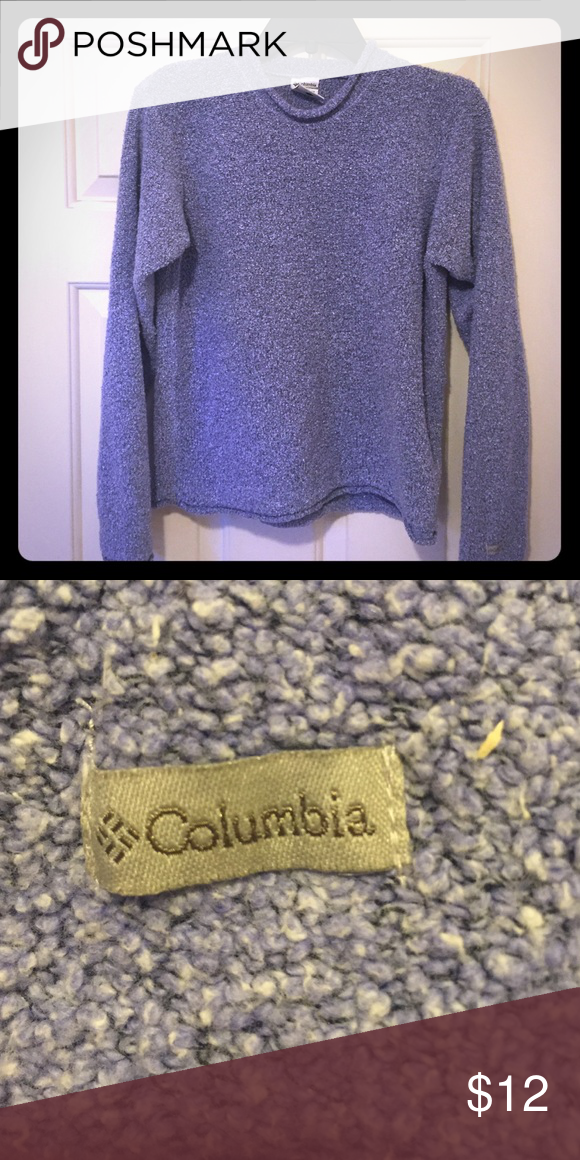 Columbia Pullover - Purple Size Small Columbia pullover. Color is light purple/lavender. Super warm and great for camping! Columbia Sweaters Crew & Scoop Necks