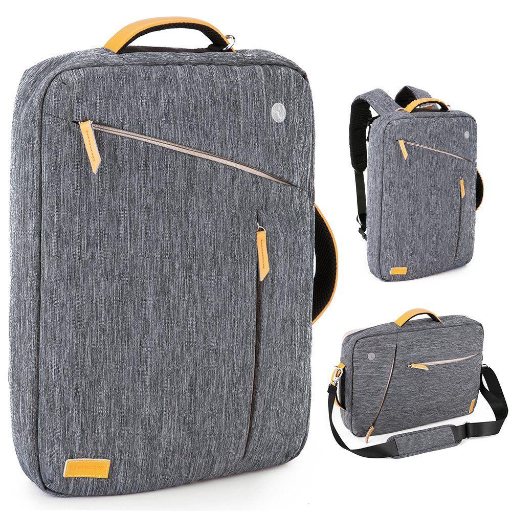 evecase 17 3 pouces sac dos convertible en toile r sistent l 39 eau serviette en canvas pour. Black Bedroom Furniture Sets. Home Design Ideas