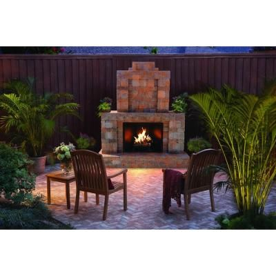 Pavestone 40 In X 36 In X 60 In Outdoor Fireplace Insert Kit
