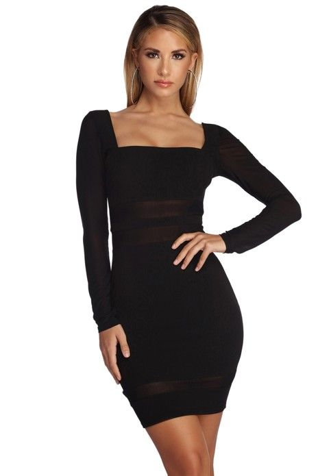 c639ebcb6b2c6 Miss Me Mesh Mini Dress in 2019 | Products | Dresses, Black, Womens ...