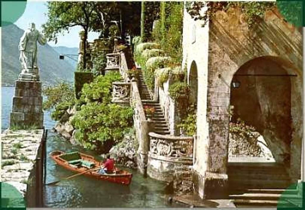 Desembarcadero de la Villa del Balbianello. Provincia de Lenno, Como. Italia.