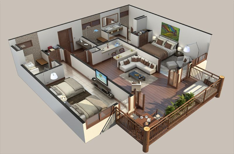 Interesting Floor Plan 3d House Plans Floor Plans House Plans