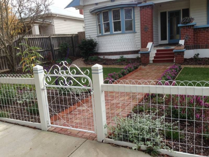 Ornamental Loop Fencing - Galvanized 8 Gauge Wire 100 roll x 50 t ...