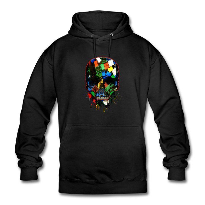 Skull Baustein-Style Hoodie   Spreadshirt