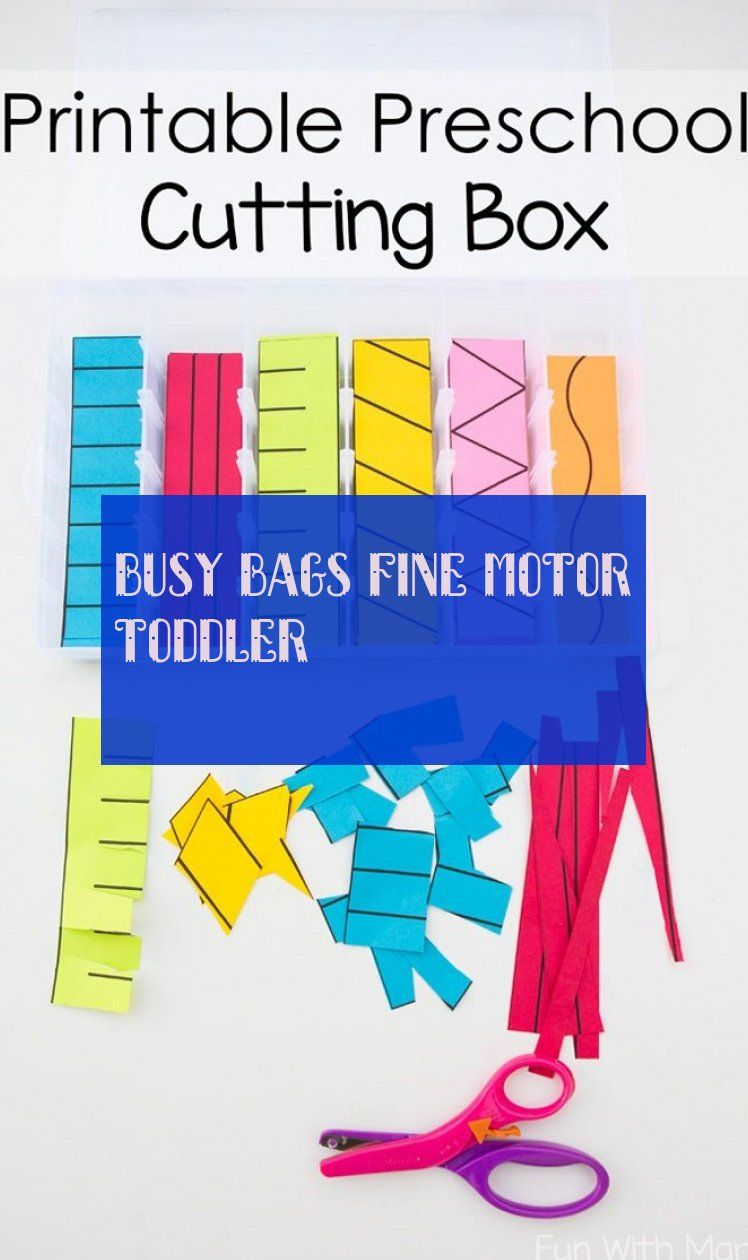 Busy Bags fine motor toddler