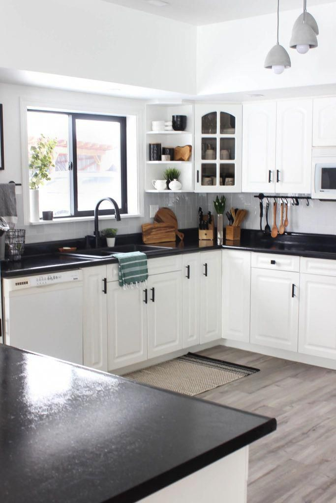 have you considered black countertops here s some inspiration for you kitcheninspo kitchend on kitchen decor black countertop id=99141