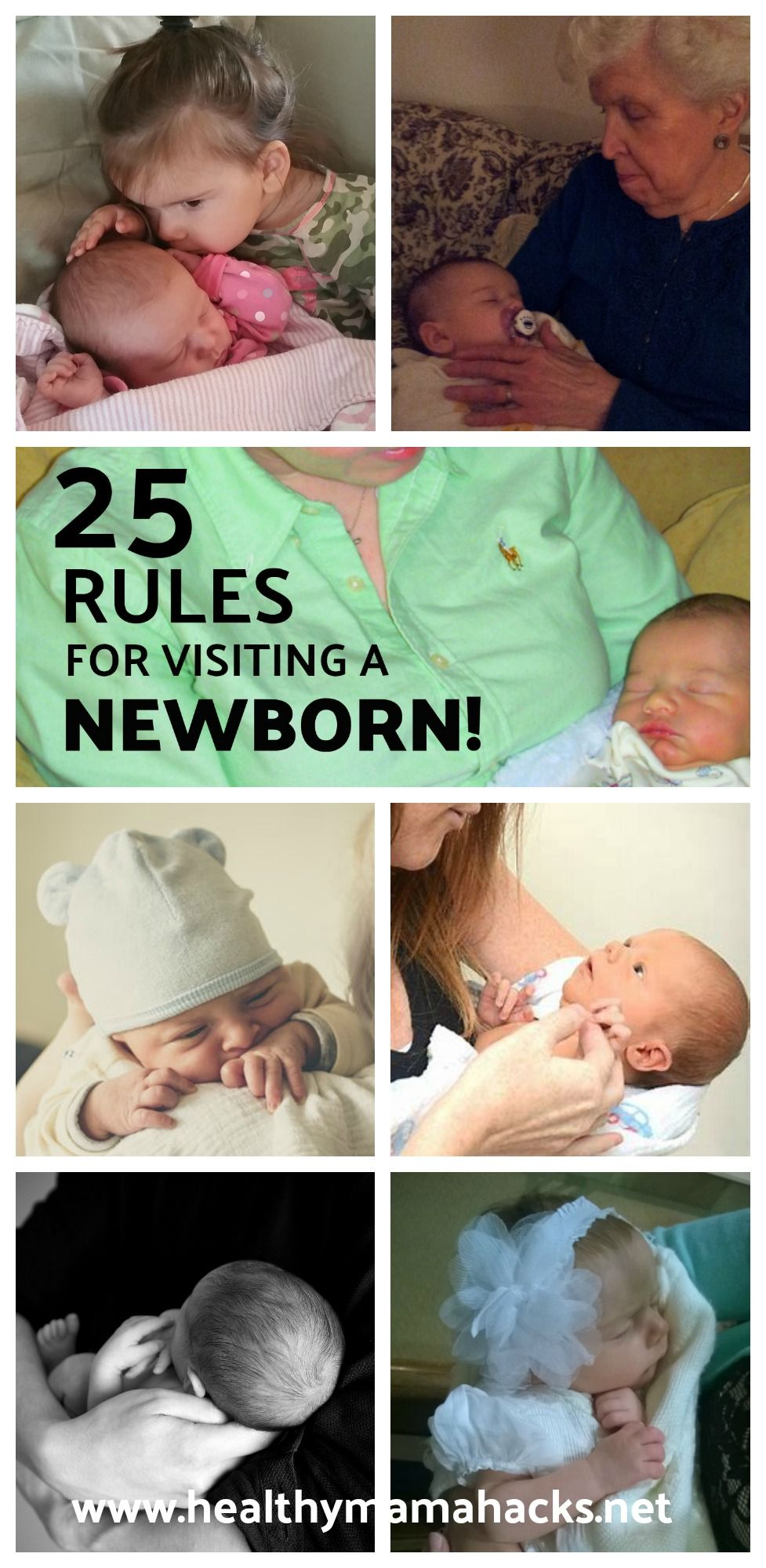 25 Rules for Visiting a Newborn Newborn care, New baby