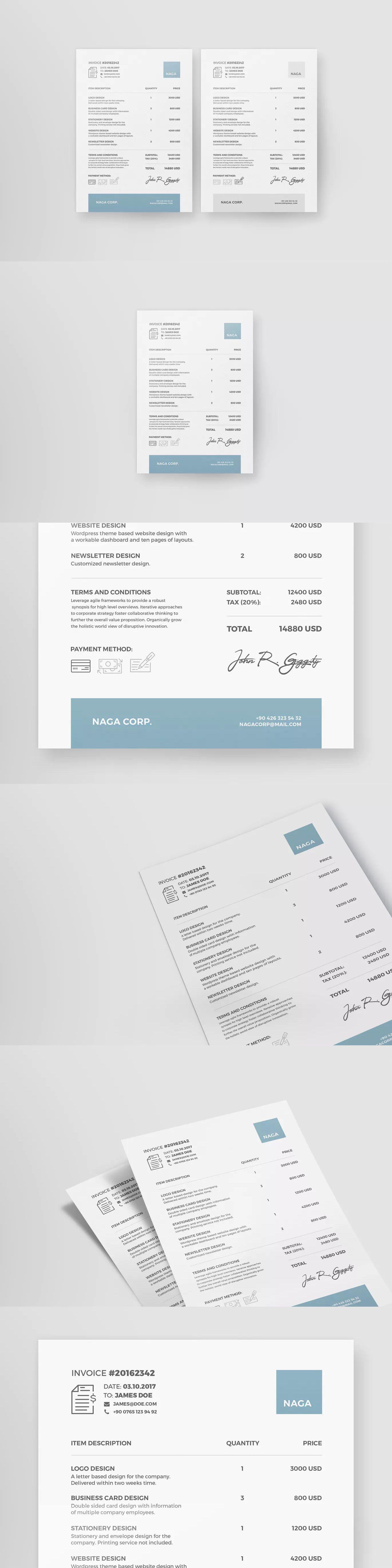 Naga  Invoice Presentation Template  Invoice Templates