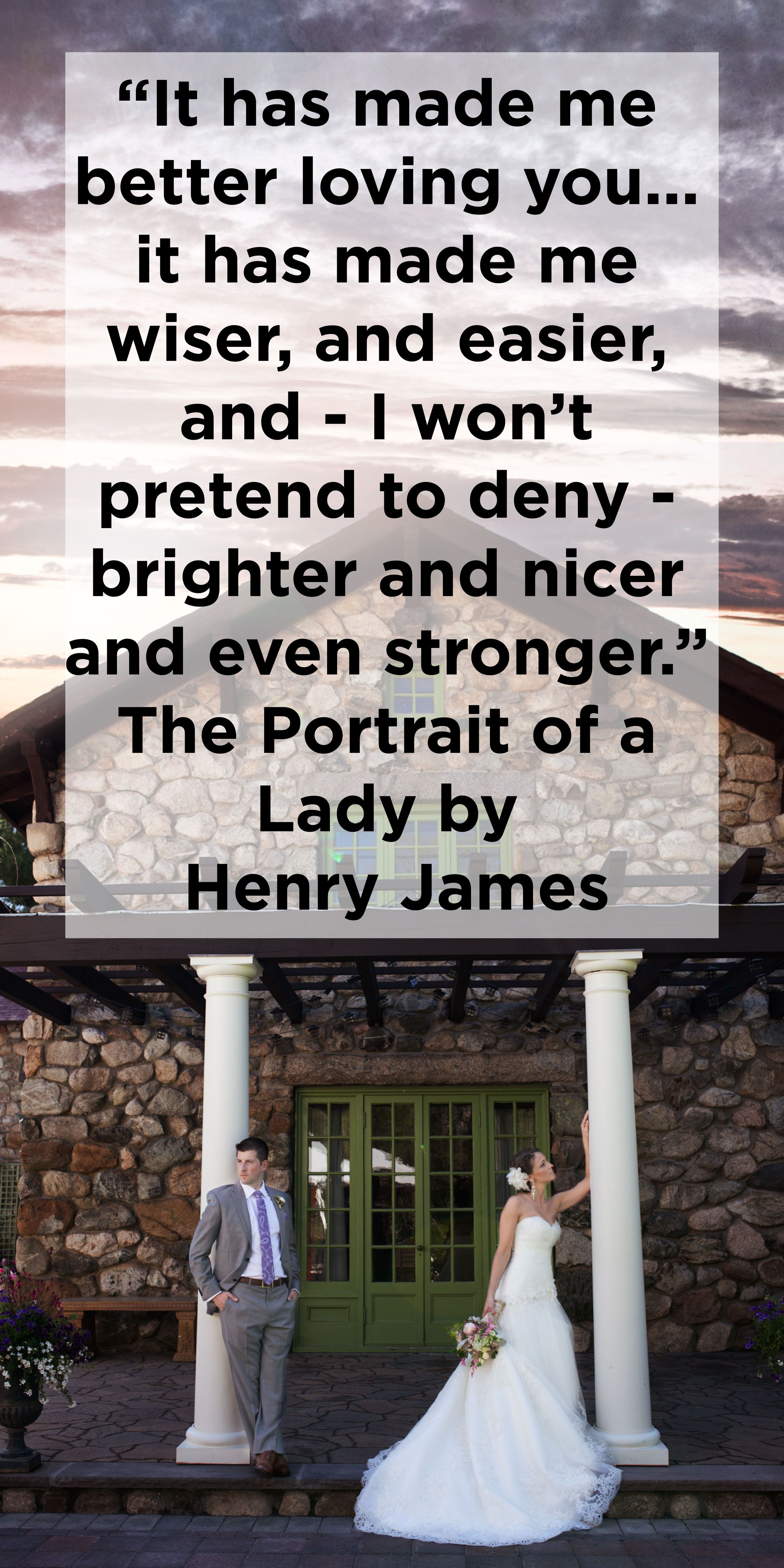 Henry James Love Quote For Wedding Reading Or Vows From Portrait Of A Lady Venue