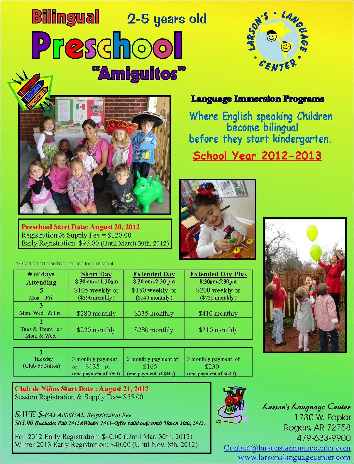 2012-13 Preschool flyer-web.jpg (1207×1580) | Teaching Spanish ...