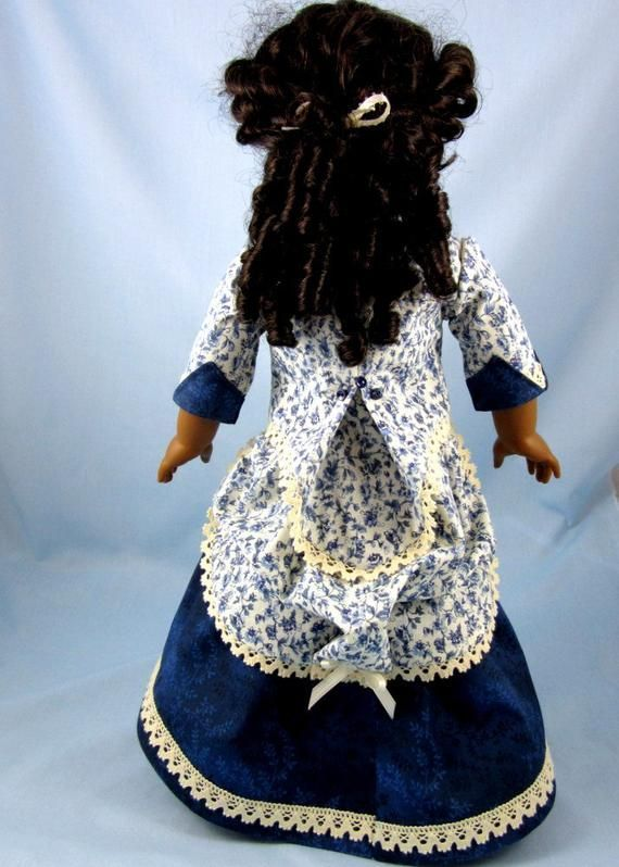 Doll clothes 18inch - 1870s Bustle Dress - 2 Piece - 18 Inch Doll Clothes - Fits American Girl - Blue Floral Print - Historic Doll Clothing #historicaldollclothes Doll clothes 18inch 1870s Bustle Dress 2 Piece 18 Inch | Etsy #historicaldollclothes