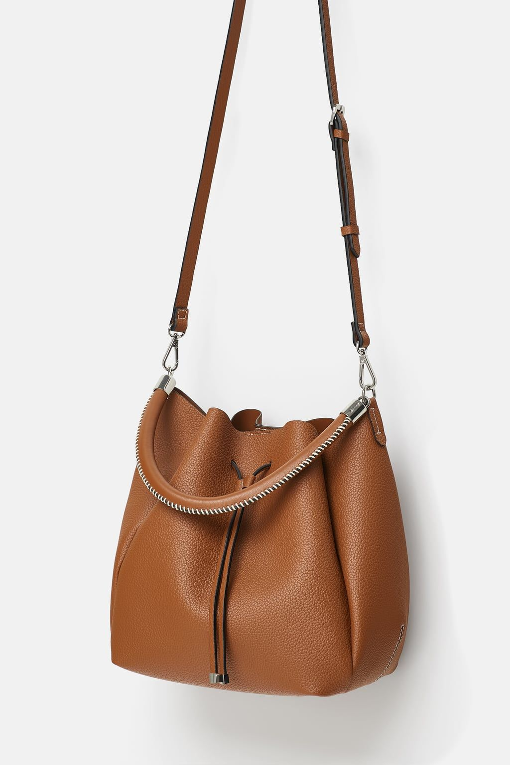 35b3c3dd17 Image 3 of BUCKET BAG WITH TOPSTITCHED HANDLE from Zara