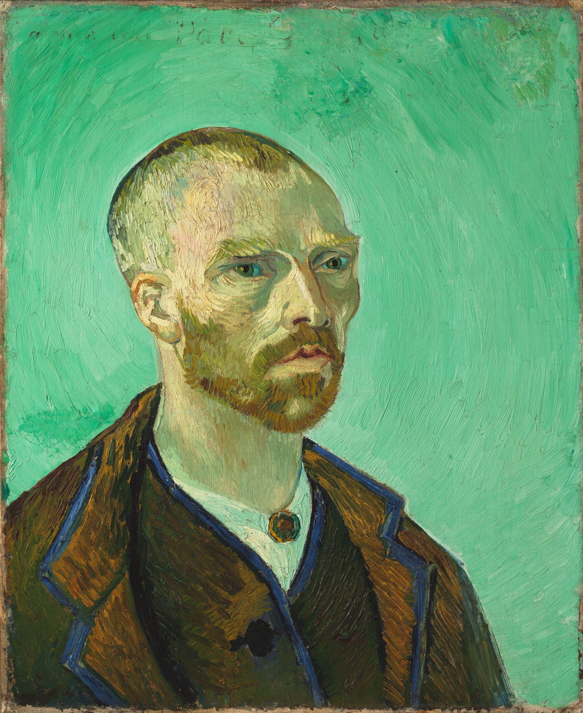 Character Design Harvard : Van gogh self portrait dedicated to paul gauguin