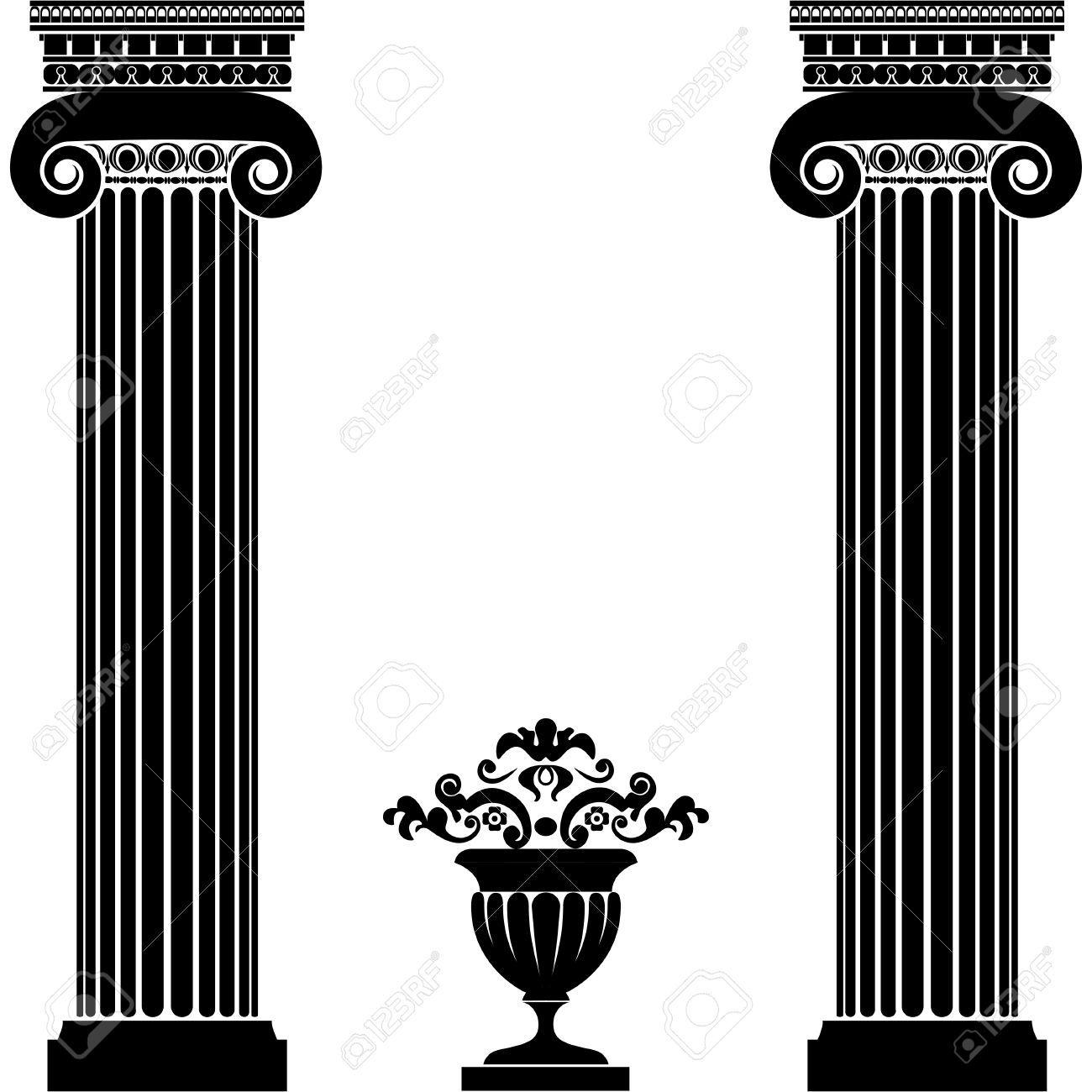 colonne grecque deco colonne blanche carre colonne. Black Bedroom Furniture Sets. Home Design Ideas