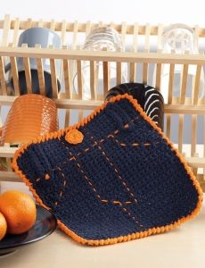 4912-Fly Front Dishcloth