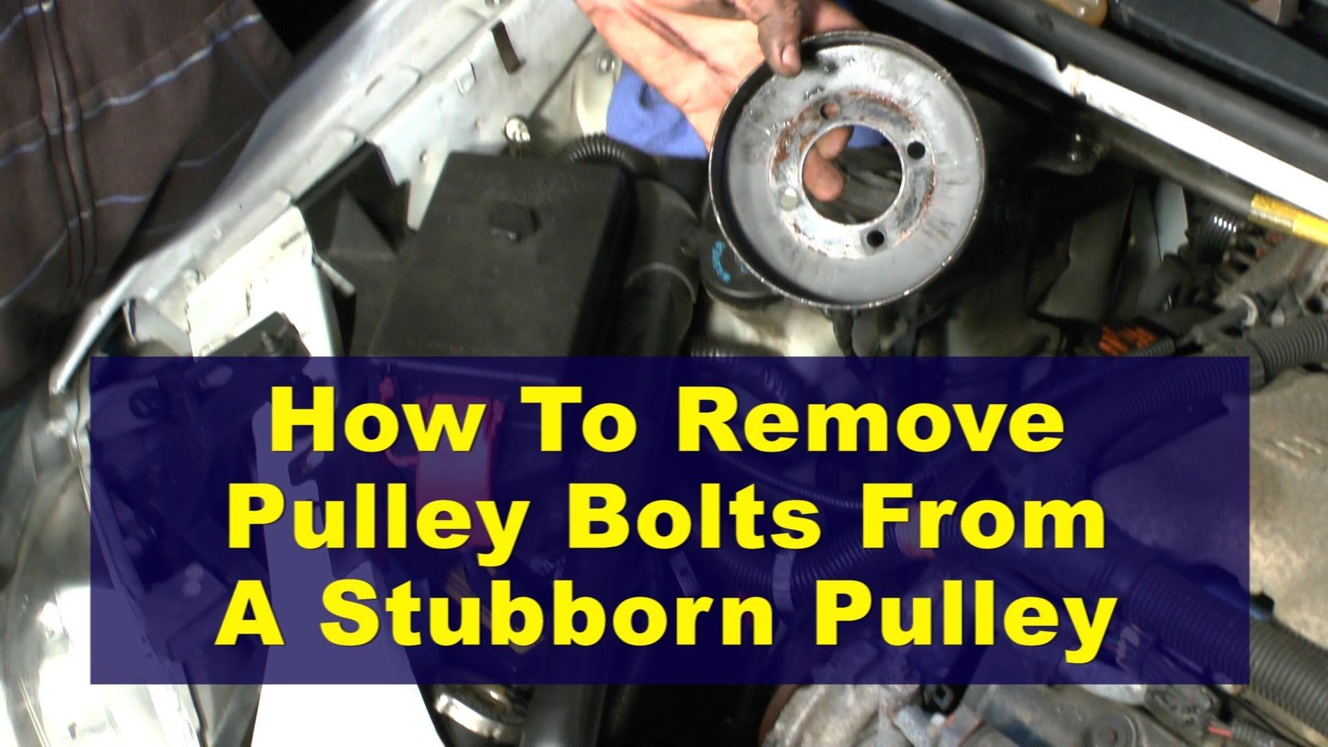Easy Mechanic Trick Loosen Tight Pulley Bolts Stubborn Pulley