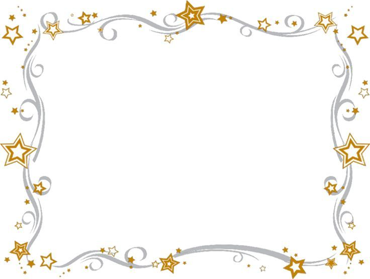 Estrellas marcos bordes y fondos pinterest l minas - Marcos para laminas ...