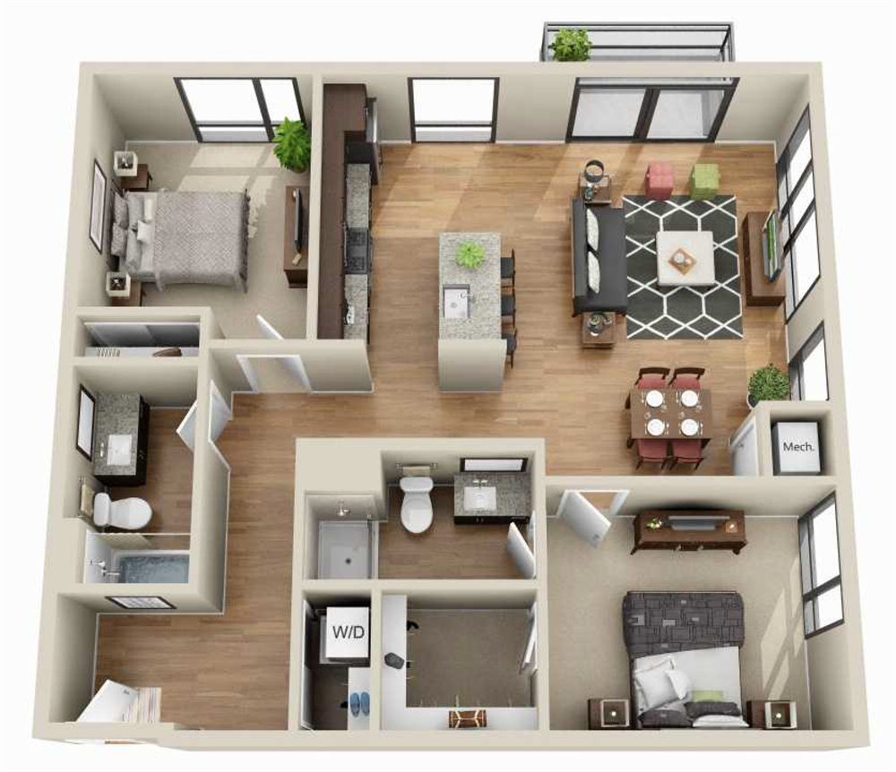 Apartments For Rent Minneapolis Mn Floor Plans Junction Flats House Floor Design Sims House Small House Design