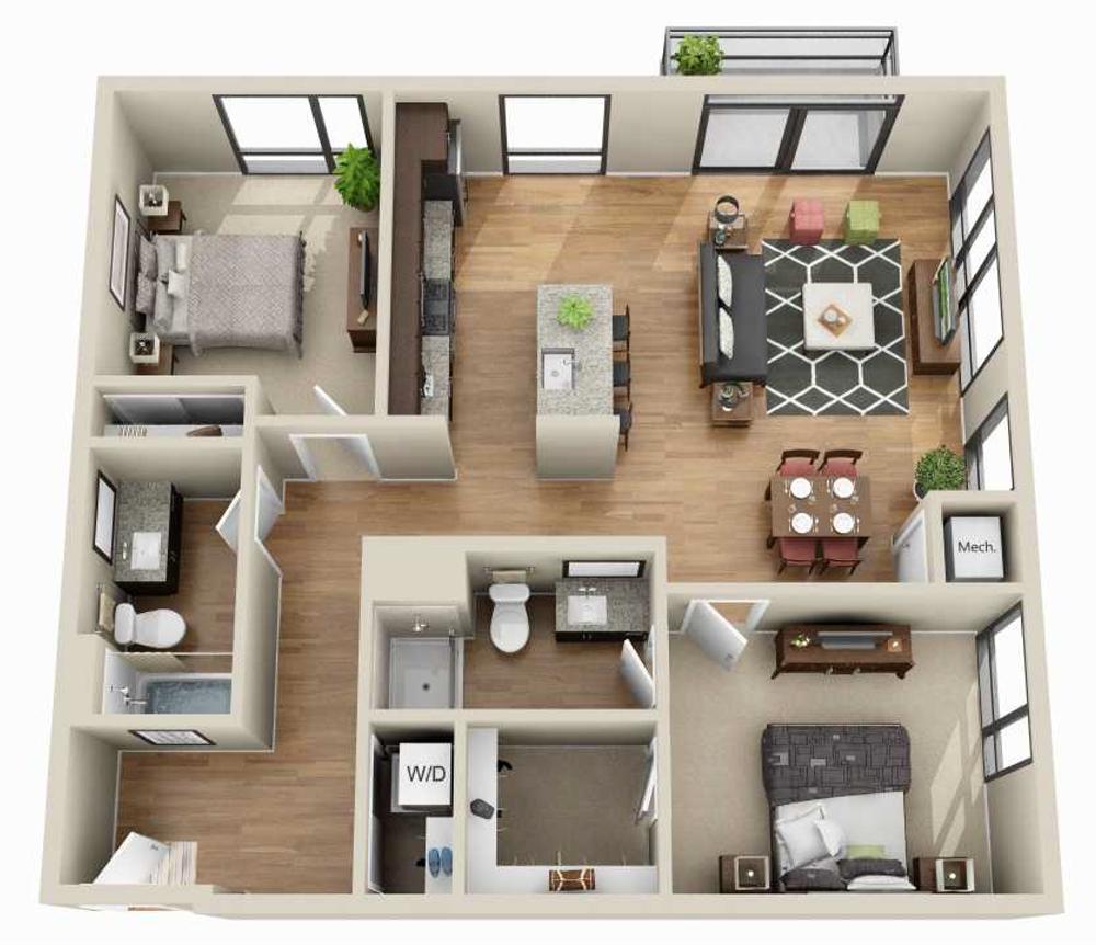 Apartments For Rent Minneapolis Mn Floor Plans Junction Flats House Layout Plans Sims House Design Sims House Plans