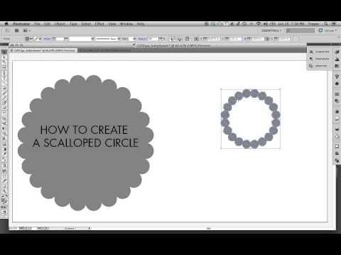 ▶adobe illustrator - How to make a Scalloped Circle - YouTube