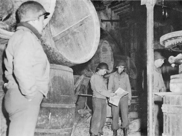 US VI Corps Headquarters in an underground wine cellar near Anzio, Italy, 1944. US Army Center
