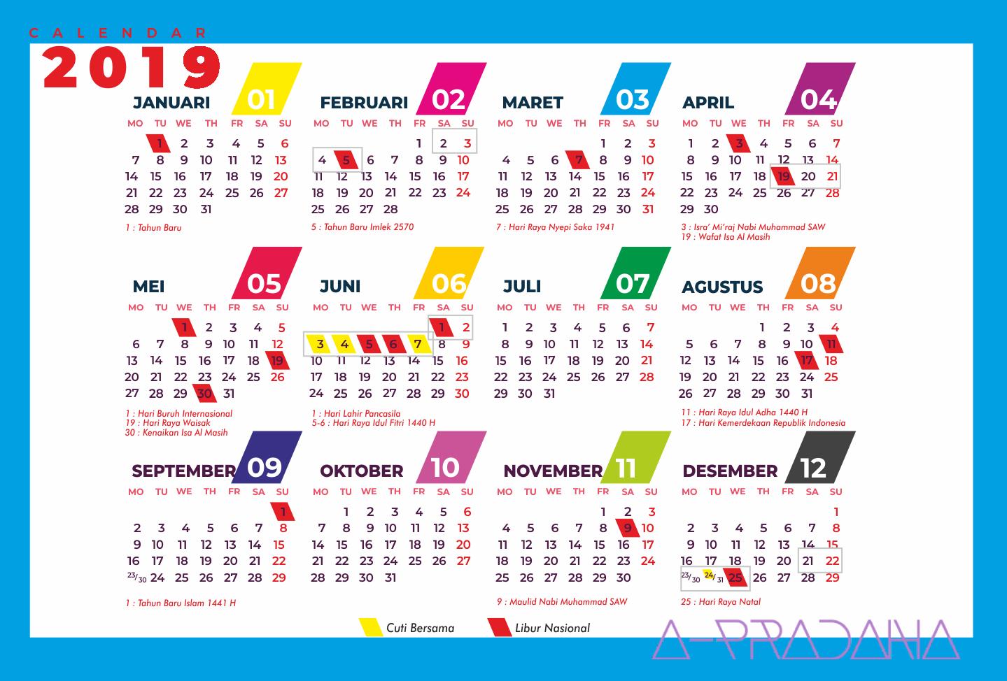 Hasil gambar untuk kalender 2019 indonesia | Gambar dan Maret