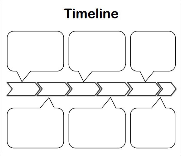 Amazing Of Blank Timeline Templates Printable Template 01 300