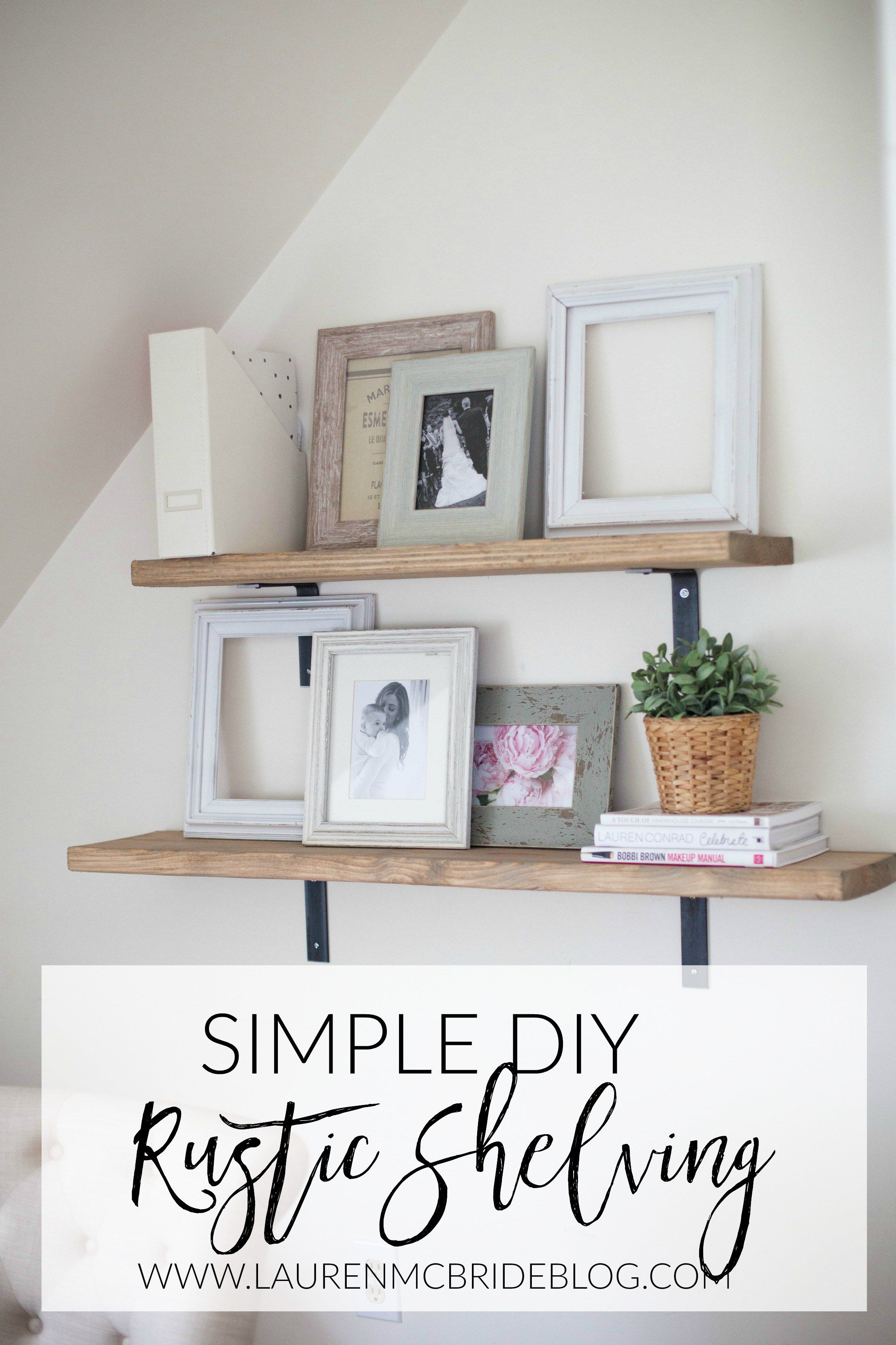 Home // Simple DIY Rustic Shelving | Rustic shelves diy ...