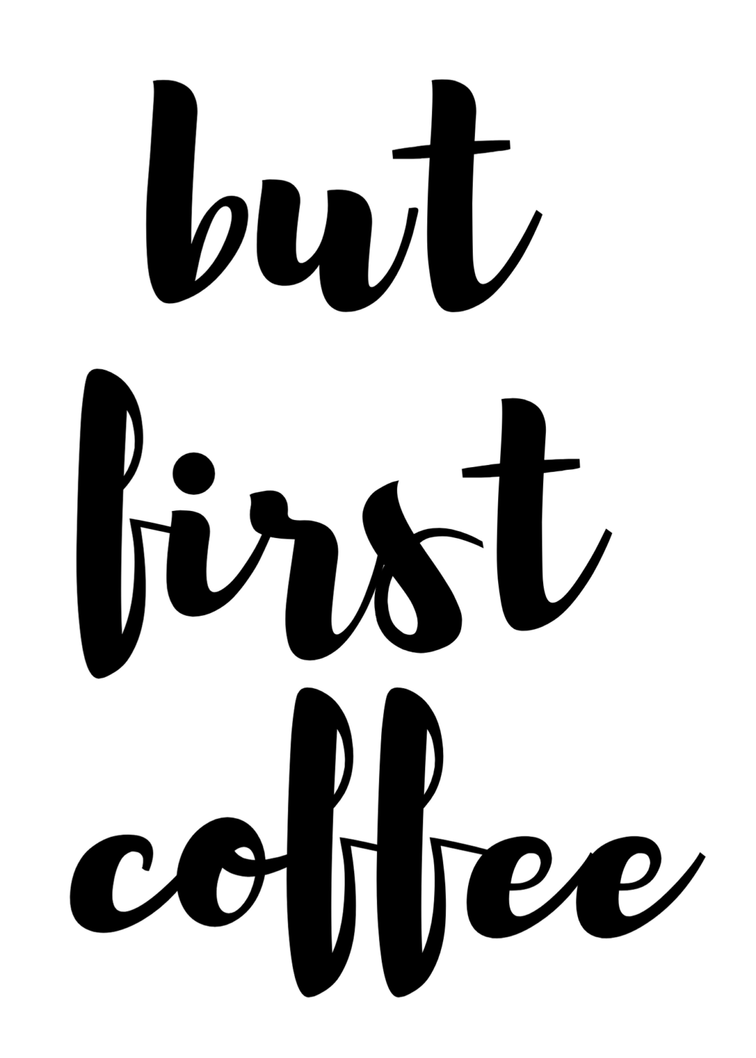 But First Coffee Printable {FREE!} Paisley + Sparrow in