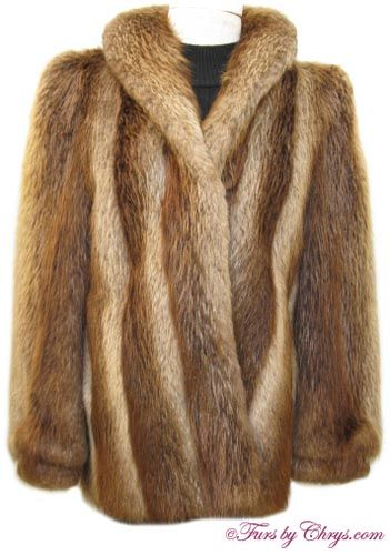 SOLD! Golden Beaver Fur Jacket; B656; Excellent Condition; Size ...