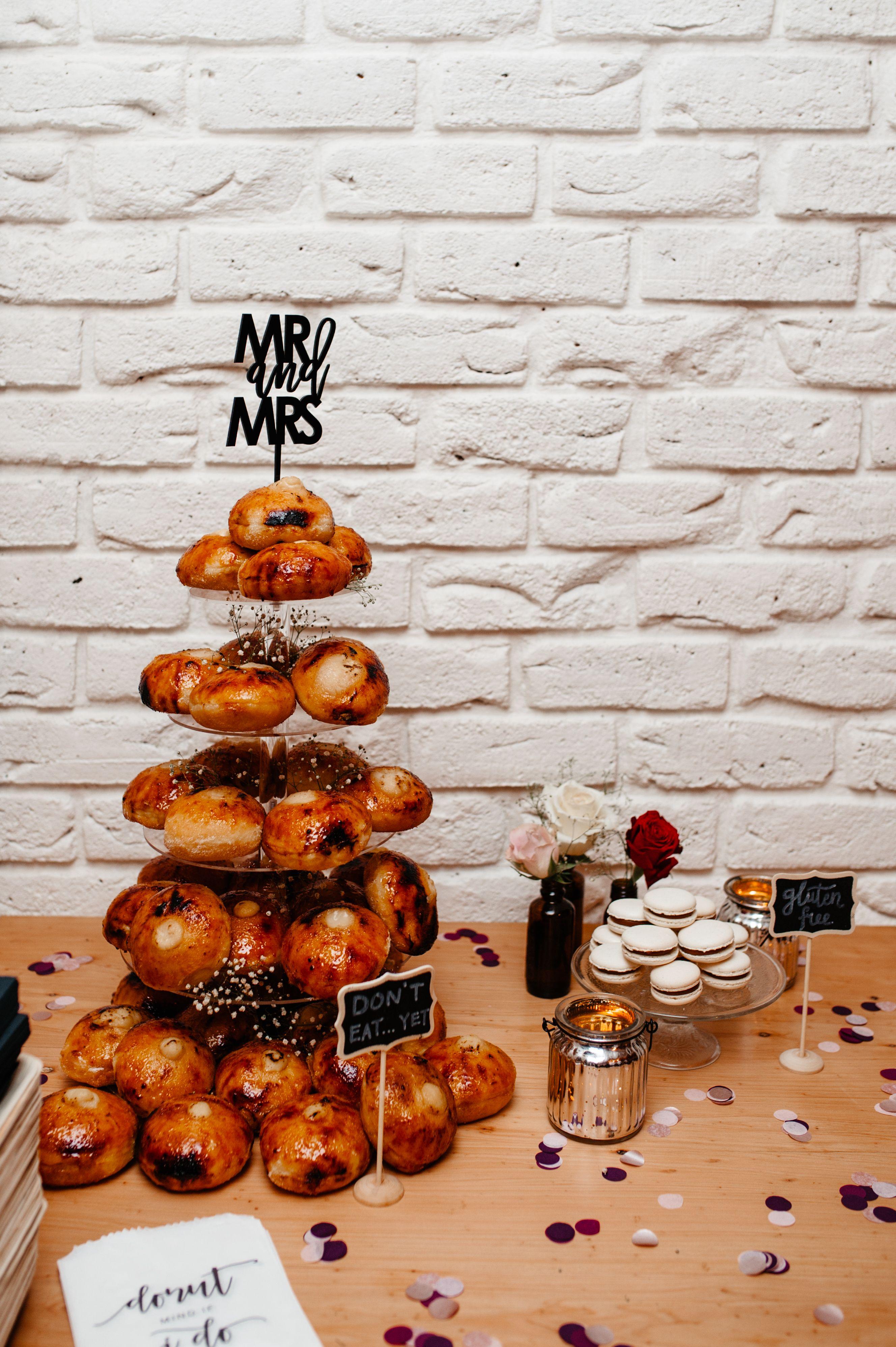 Best wedding cake alternative donut tower from bistro