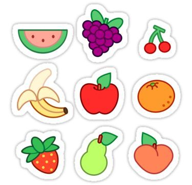 Fruit Sticker Print Stickers Cute Stickers Printable Stickers