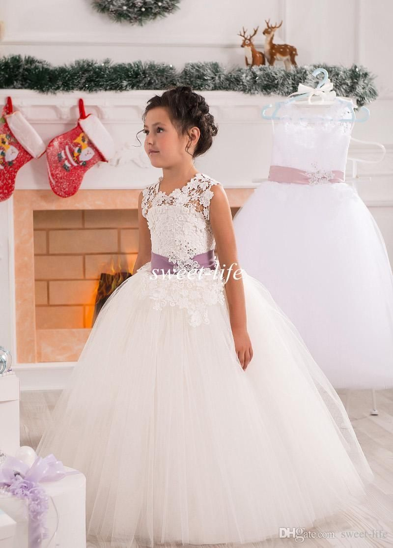 Beautiful Ball Gown Flower Girl Dresses for Wedding 2015 Lace ...
