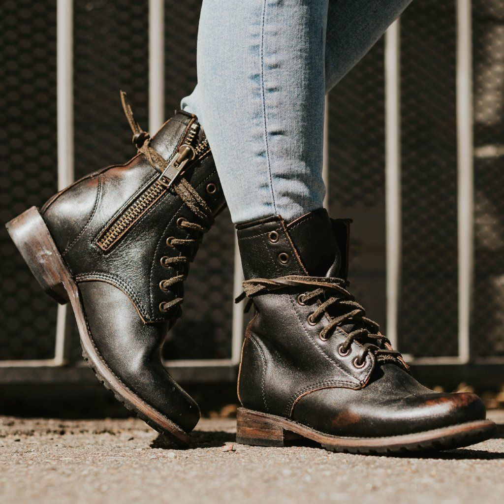 5e40edf581c Manchester in 2019 | My Style | Black leather boots, Latest ladies shoes