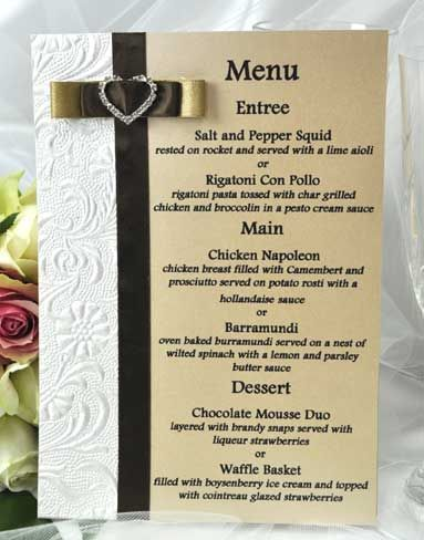 Getting the Wedding Menu Samples | weddings | Pinterest | Wedding ...
