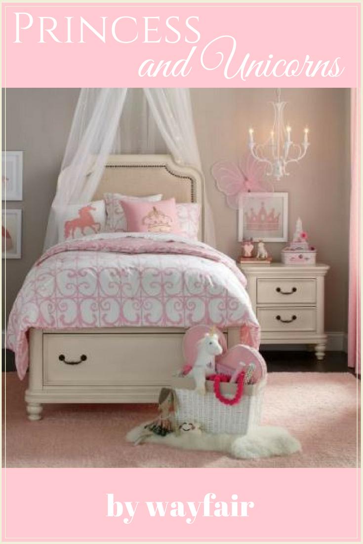 Princess and Unicorns Bedroom Decor by wayfair #kidsbedroomideas