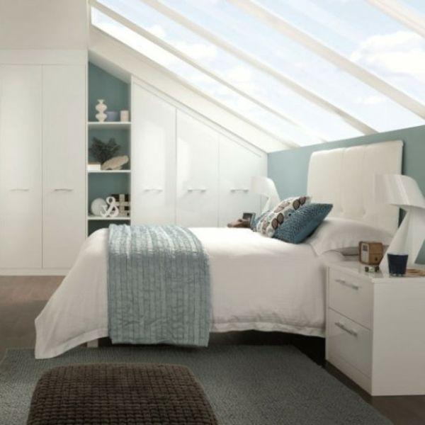 Bildergebnis für schlafzimmer schräge   Schlafzimmer design, Einrichtungsideen schlafzimmer ...