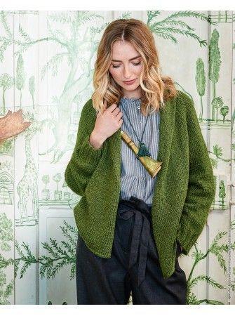 Strickanleitung für tolle Raglanjacke mit Schalkragen / knitting ...