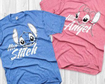 a7b2f3f95 Disney Couple Shirts Stitch and Angel Lilo and stitch Matching Shirts Stitch  and Angel shirts Vacation Shirts