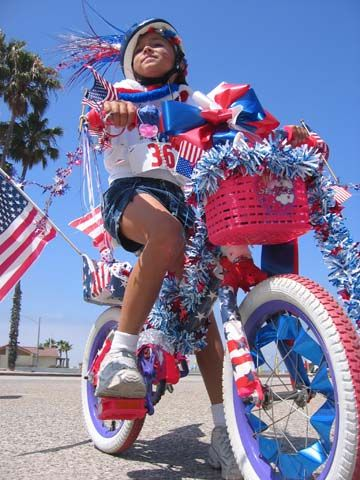 kids red white and blue parade - Google Search
