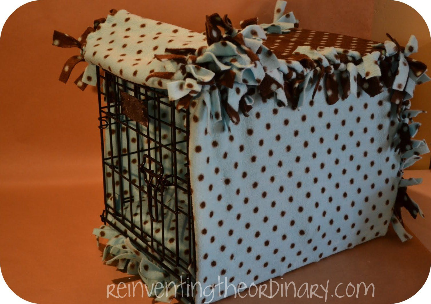 Easy Cozy Almost No Sew Dog Crate Cover