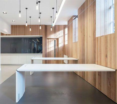 Mesas plegables minimalistas crear un espacio de trabajo - Trabajo diseno de interiores ...