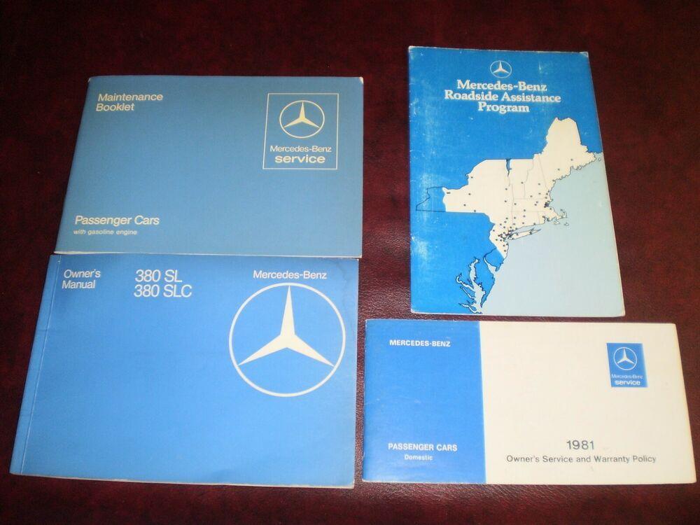 Ebay Sponsored 1981 81 Mercedes Benz 380 Sl Slc Type 107 Original Car Owners Manual Books Guide Car Owners Manuals Mercedes Benz Mercedes