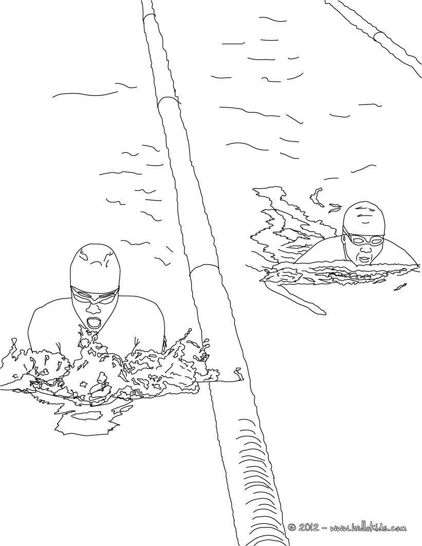 have fun coloring this freestyle swimming sport coloring page